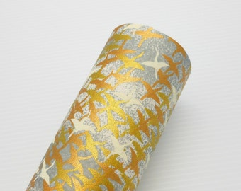 Paper Swatch GLD6 - Gold Cranes - Chiyogami Paper