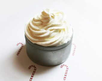 Candy Cane Whipped Soap - Scented Soap - Homemade Soap - Vegan Soap - Glycerin Soap - Cream Soap