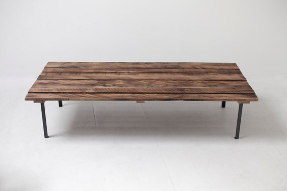 Low Profile Reclaimed Picnic Style Coffee Table Mid Century