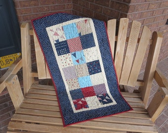 Red White And Free Quilted Table Runner