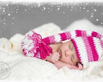 Elf hat, Crochet Elf hat, Baby crochet elf hat