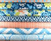 Half Yard Bundle - FLORA - Eucalyptus Palette - Joel Dewberry for Free Spirit Fabric - 12 pieces