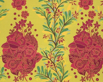 Small Gathering in Citrus PWAH088 - FOLK SONG by Anna Maria Horner - Free Spirit Fabric  - By the Yard