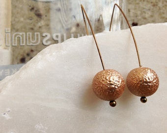 Golden Triangle Ball Drop Earrings