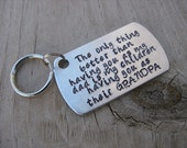 "Gift for Grandpa- Grandpa Keychain- ""The only thing better than having you as my dad is my children having you as their GRANDPA"""