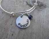 "Gratitude Inspirational Bracelet- ""Gratitude"" with an accent bead of your choice"