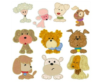 DOGS - Machine Applique Embroidery - Instant Digital Download