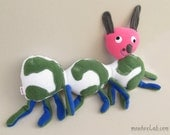 Doll made from a kid's drawing Worm softie from child's art Custom made plushie - MADE TO ORDER