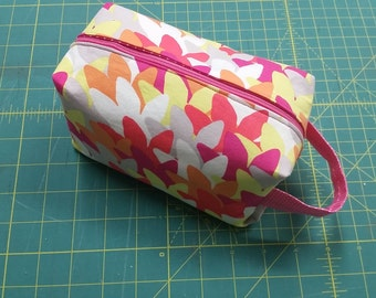 Small Pink, Yellow and White Ditty Bag