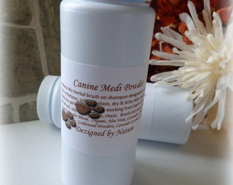 Canine Medi Powder, Organic Herbal Powder for Dogs, Brush on Pet Powder