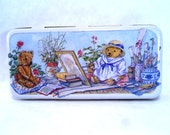 Teddy Bears Colour Box Art Supply Tin by Elite Gift Boxes Vintage 80s