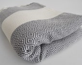 Shipping with FedEx - Diamond - Picnic blanket, Beach blanket, Sofa throw, Tablecloth, Bedcover - Bathstyle - SOFT