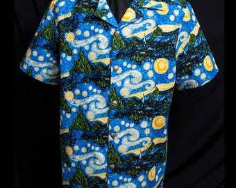 Go Van Gogh limited-edition ultra-high quality men's shirt