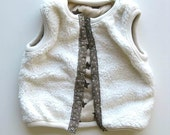 Faux Fur Vest  for Boy or Girl, Reversible