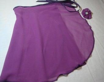 "13"" Violet Chiffon Ballet Wrap Skirt"