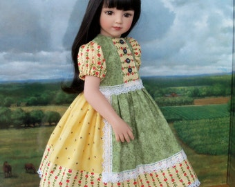 "PRINTED SEWING PATTERN  for 20"" Maru & Friends or 18"" American Girl Dolls / Patchwork Princess"