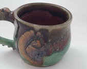 RAD Mug with skull and spikes