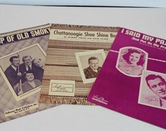 Vintage Sheet Music - 1950s - Lot of 3