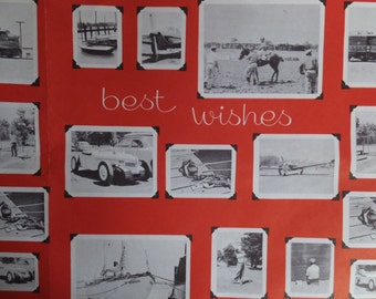 Vintage Best Wishes Old Photographs Gift Wrap Wrapping Paper