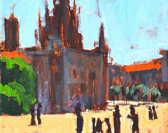 Cathedral, Barcelona Landscape Painting