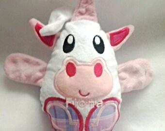 Unicorn  peekaboo baby hideaway stuffed plush animal egg minky fabric  plushie stuffie