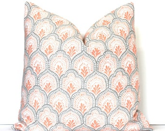 popular items for coral floral pillow on etsy