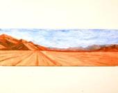 Vintage Desert Landscape Painting