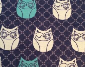 Winking Owls - FLANNEL Fabric BTY