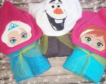 Custom Frozen inspired Hooded Towel