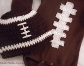 Baby Boy Football outfit & Hat Set  - Baby Gift Set 0-3m, 3-6m, 6-12m Sizes available