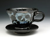 Skull Coffee Pour Over Filter, Ceramic Pour Over Coffee Maker, Skull & Crossbones Drip Coffee Filter