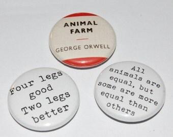 Animal Farm Button Badge 25mm / 1 inch George Orwell