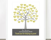 TEACHER TREE, Bestselling, Tree Personalized Class Names, Teacher Appreciation, Class Gift, End of year, Teacher Gift, Personalized, 8x10