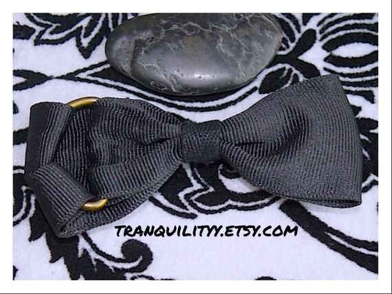 Black Hair Bow Clip ,Gothicisms Black Rain ,Rave, Lolita, Punk Rock, Scene ,Tempus ,Lux Victorian Hair Bow By: Tranquilityy