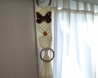 VINTAGE MACRAME Wall Hanging Butterfly