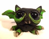 Robbie the Naughty Bat Budgie original polymer clay sculpture