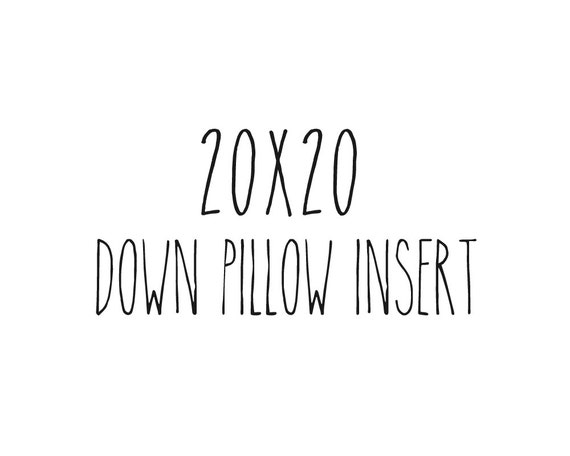 """20"""" x 20"""" Pillow Insert Form Down Feather Fill"""