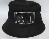 ROJAS customize gold or black metal plate black buckethat dope embossed bucthats custom cali LA NY sf etc