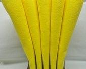 Wool Felt, 2 Sheets, Banana Cream Yellow, 20% Merino Blend, 12 X 18