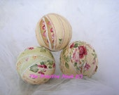 The Primitive Nook Original Set Of 3 Cottage Chic Rag Balls Bowl Fillers Ready To Ship OFG Team FAAP Team