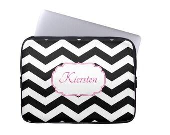 Personalized Laptop Sleeve  Monogram Laptop Case   MacBook Sleeve- Choose Colors