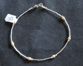 STERLING SILVER and GOLD anklet