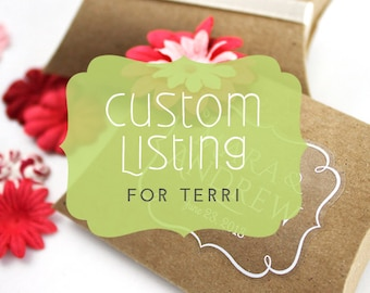 Custom Sticker Listing for Terri