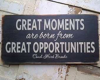Great Moments inspirational wooden hockey sign by Dressingroom5