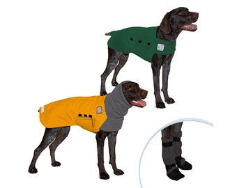 GERMAN SHORTHAIRED POINTER Cold Climate Special, Dog Winter Coat, Dog Sweater, Dog Booties