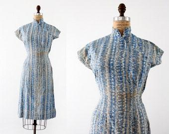 1960s cheongsam dress, vintage Asian style dress