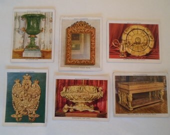 Vintage Wills Cigarette Cards  Collection set 6   Varied  The Kings Art Treasures