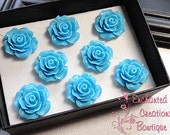 Blue Rose Magnets Perfect For Gifts, Stocking Stuffers, Bridesmaids, Shower Favor, Teachers, Housewarming