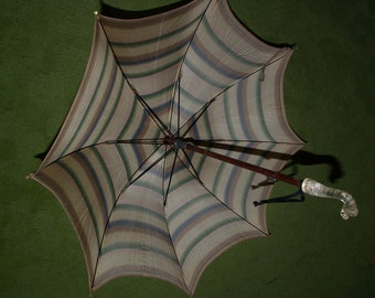 SALE - One of a Kind Vintage Umbrella for a Child, Perhaps a Ladie's Smaller Bumbershoot