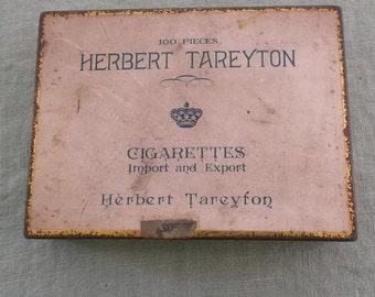 Vintage Tin Cigarette Tin Herbert Tareyton